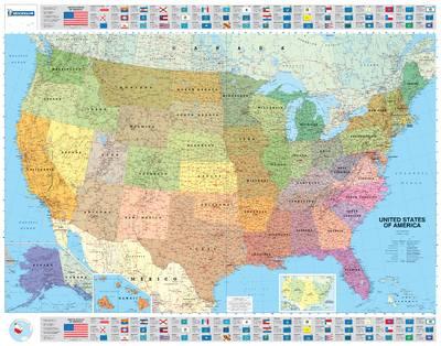 usa politique plastifie 15761 carte michelin kaart | terra publishing
